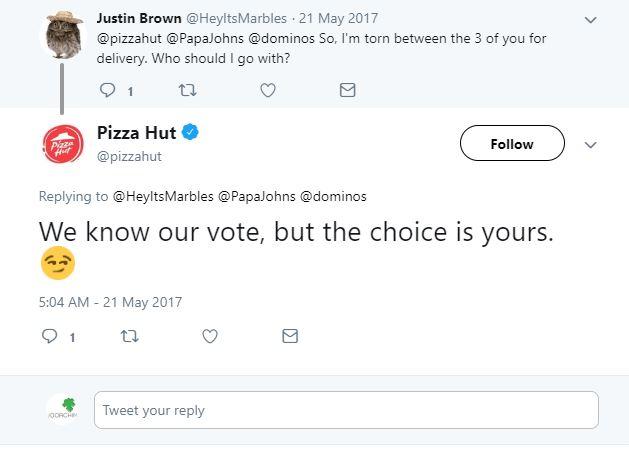 سوشال مدیا پیتزا هات